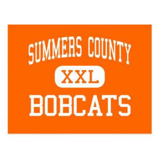 Summers County - Bobcats - High - Hinton Postcard