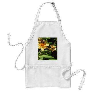 Summer's Day Bee on Sunny Yellow Flowers Adult Apron