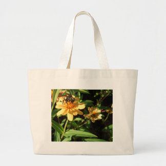 Summer's Day Bee on Sunny Yellow Flowers Tote Bag