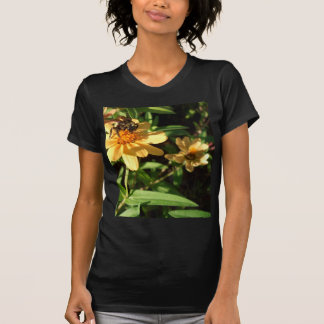 Summer's Day Bee on Sunny Yellow Flowers Tee Shirts