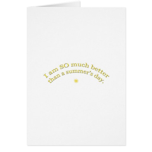 Summer's Day Greeting Cards