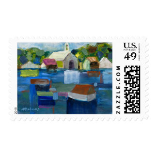 Summer's Deep Reflections Marilyn Holmes Postage