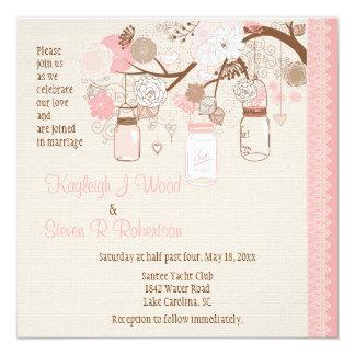 """Summer's Dream Wedding Invitation 5.25"""" Square Invitation Card"""
