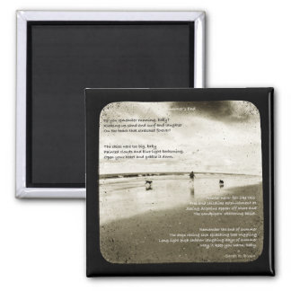 Summer's End 2 Inch Square Magnet