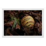 Summer's End Baseball Poster Print