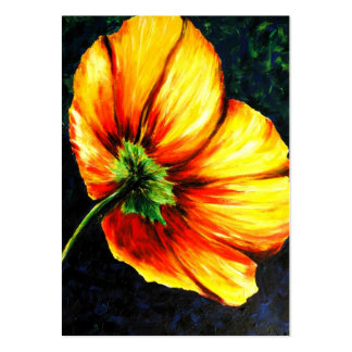 Summer's End (Yellow Poppy) ACEO Art Trading Cards Business Card Templates