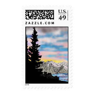 Summer's Eve at South Lake Tahoe, California Stamp