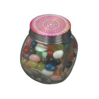Summer's Fine Jelly Belly Mandala Gift Glass Candy Jar