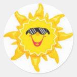 Summer's Here! Round Sticker