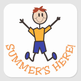 Summers Here Square Sticker