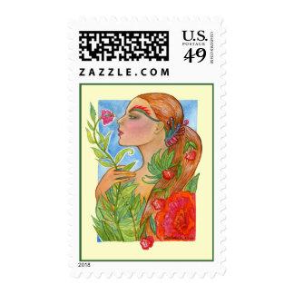 Summer's Last Garden Postage Stamp