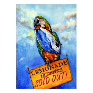 Summer's Over (Macaw) ACEO Art Trading Cards Business Card