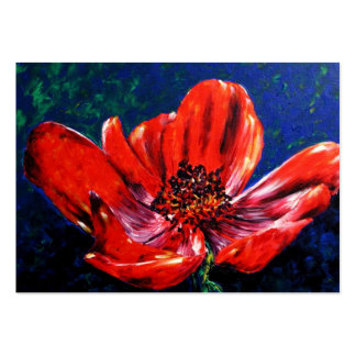 Summer's Splendor (Red Poppy) ACEO Art Cards Business Card Template