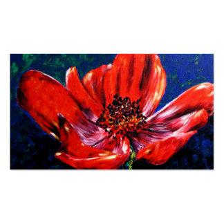 Summer's Splendor (Red Poppy) Business Cards