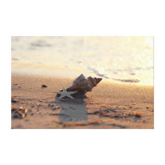 Summers, sun, sea rush at the beach canvas print