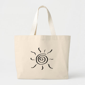 Summersgarden Sunshine Black and White - Large Tote Bag