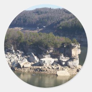 Summersville Lake Classic Round Sticker