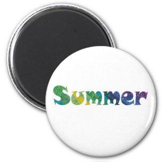 Summertime 2 Inch Round Magnet