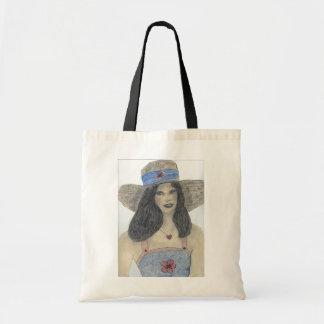 Summertime 70's Retro Girl Tote Bag