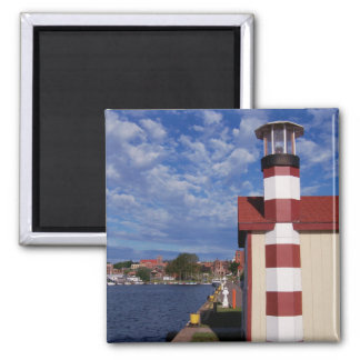 Summertime At Lake Superior 2 Inch Square Magnet
