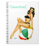 Summertime at the beach Pin Up Notebook