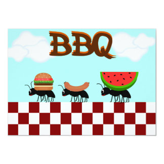 Summertime BBQ Picnic and Cookout Invitation