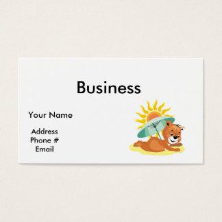 Summertime Beach Fun Bear Business Card