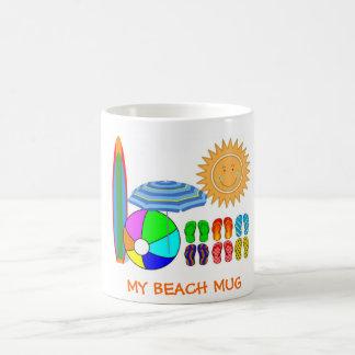 Summertime Beach Party Classic White Coffee Mug