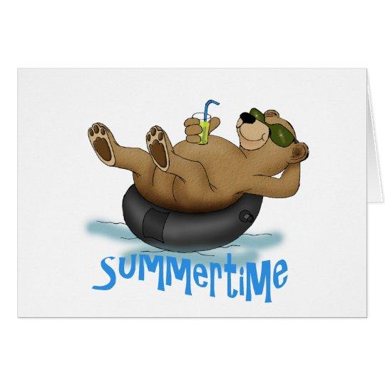 Summertime Bear Card