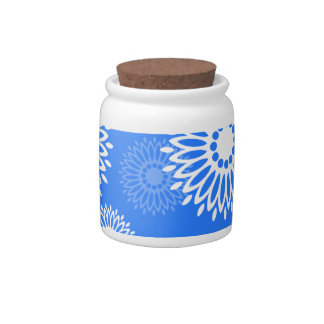 Summertime Blue Candy Jar