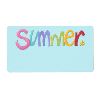 Summertime blue Gift Tag Label
