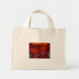 Summertime  Butterflies. Mini Tote Bag