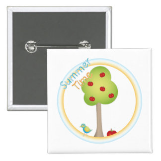 Summertime 2 Inch Square Button