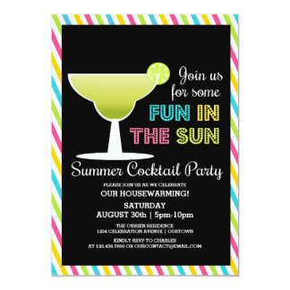 Summer Cocktail Party Invitations Announcements Zazzle