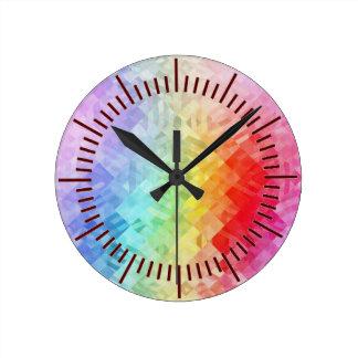 Summertime Colour Round Clock