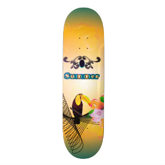 Summertime, cute coutan skateboards