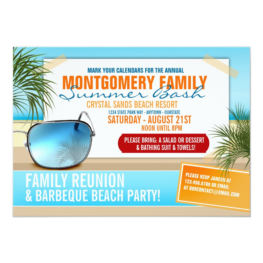 Summertime Family Reunion Invitations