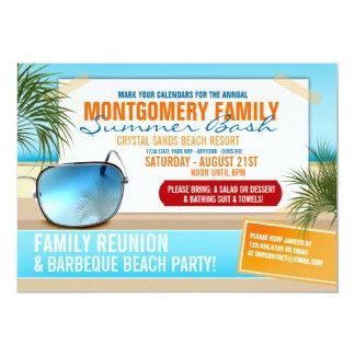 Summertime Family Reunion Invitations