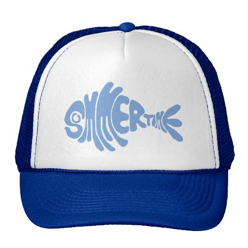 Summertime fish trucker hat