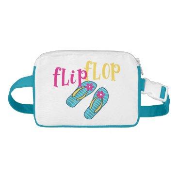 Beach Themed Summertime Flip Flop Fanny Pack