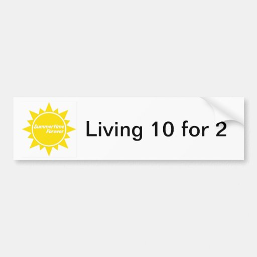 Summertime Forever bumper sticker