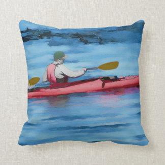 Summertime Fun - Kayaker Throw Pillow