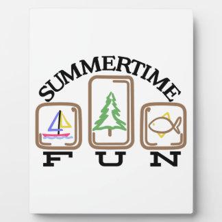 Summertime Fun Plaque