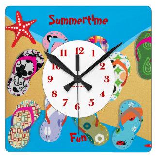 Summertime Fun Wall Clock