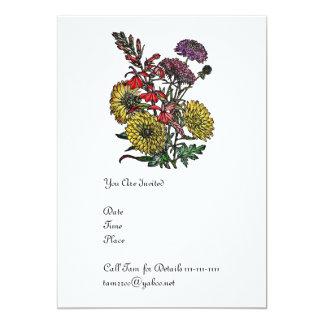 Summertime Garden Bouquet 5x7 Paper Invitation Card