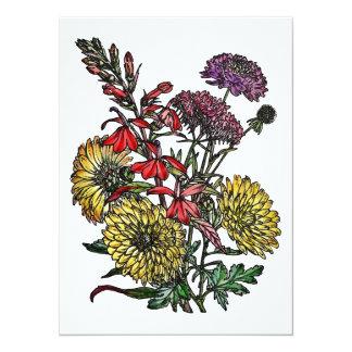 Summertime Garden Bouquet 5.5x7.5 Paper Invitation Card