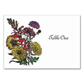 Summertime Garden Bouquet Table Card