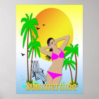 Summertime - Girl 24 x36 Poster