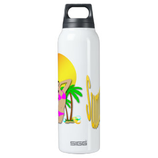 Summertime - Girl 24oz Liberty Bottle 16 Oz Insulated SIGG Thermos Water Bottle