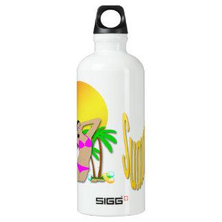 Summertime - Girl 24oz Liberty Bottle SIGG Traveler 0.6L Water Bottle